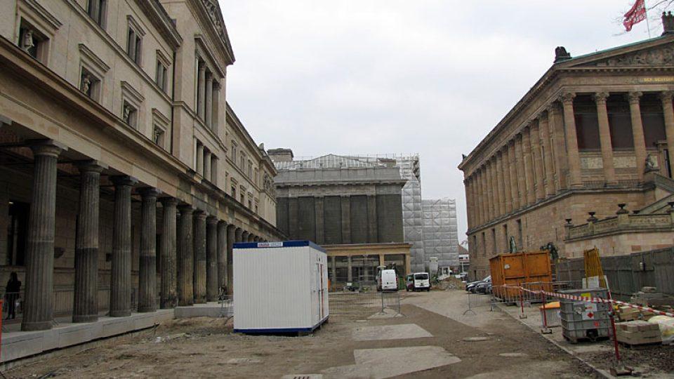 Staveniště před Novým muzeem