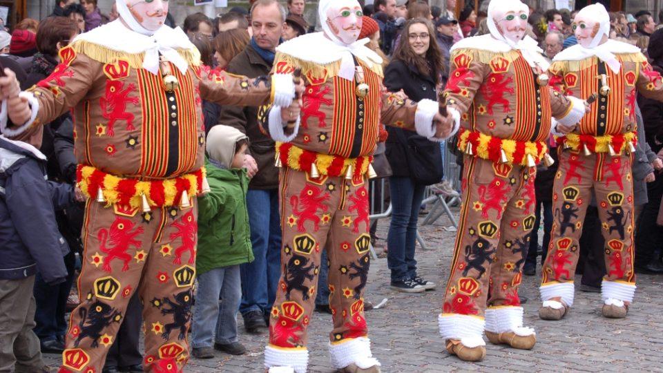 Belgický masopust v Binche