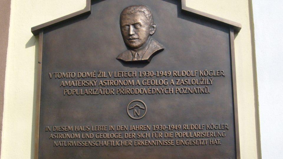 Rudolf Kögler na pamětní desce
