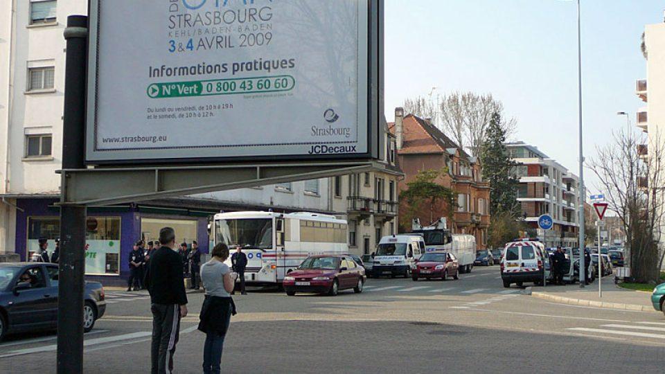 Policie v ulicích Štrasburku