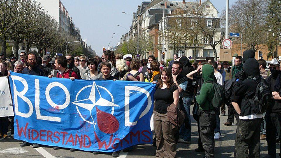 Aktivisté ve Štrasburku