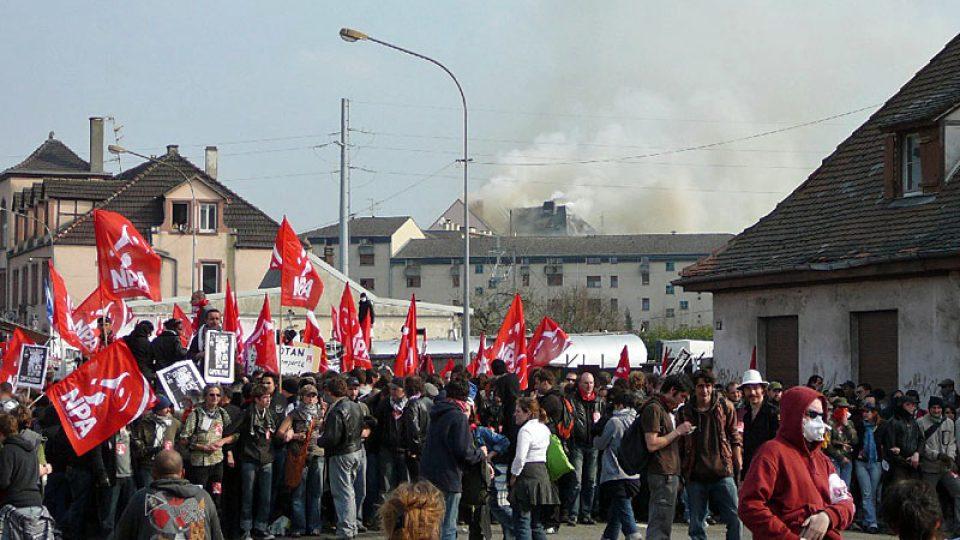 Přípravy na pochod Štrasburkem