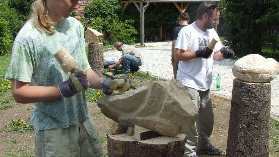 Kamenosochařské sympozium v Příbrami