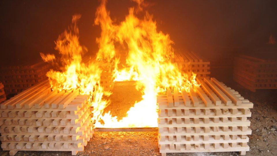 Požární experiment Mokrsko 2008