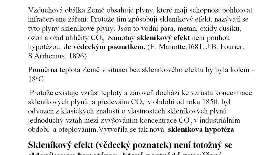 Skleníkový efekt a skleníková hypotéza