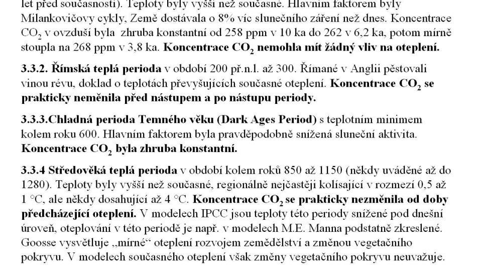 Teplé a chladné periody holocénu