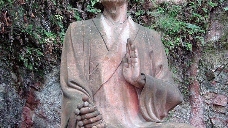 Socha mnicha Chaj Tchunga