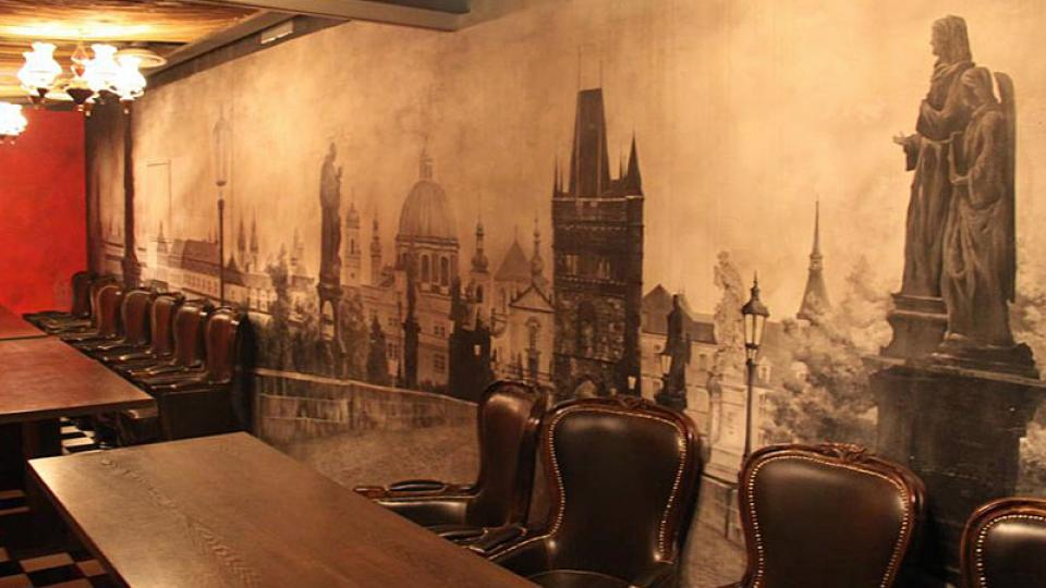 Interiér restaurace Castle Praha