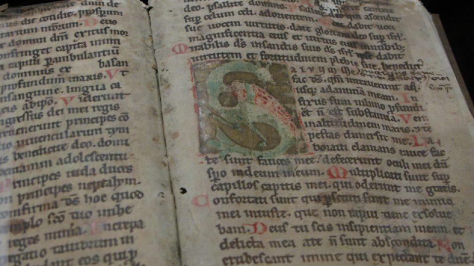 Z výstavy Listujeme ve středověkých rukopisech