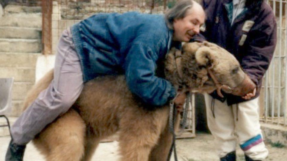 Jaroslav Kaňa s medvědem