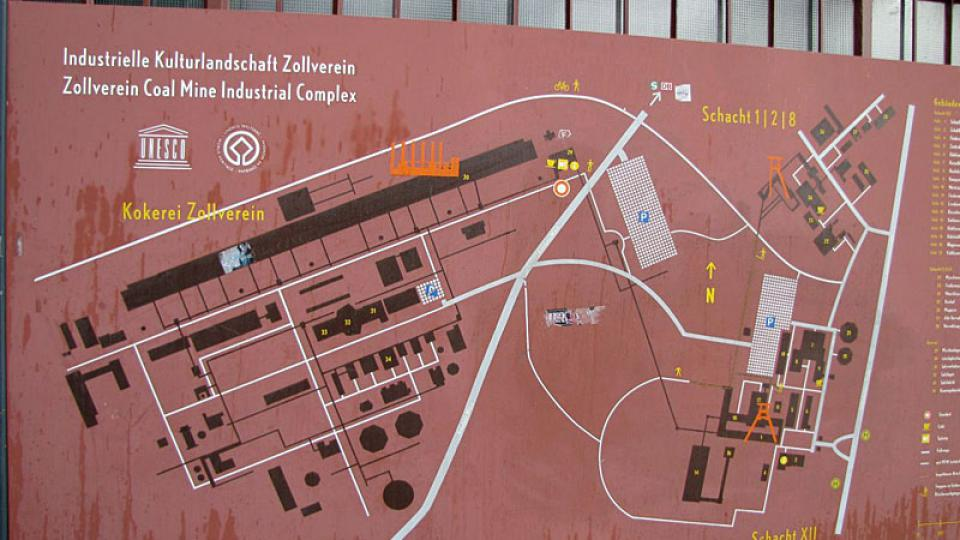 Plán dolu Zollverein