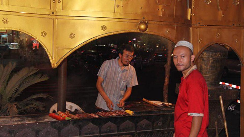 Pouliční občerstvení ve městě I-wu