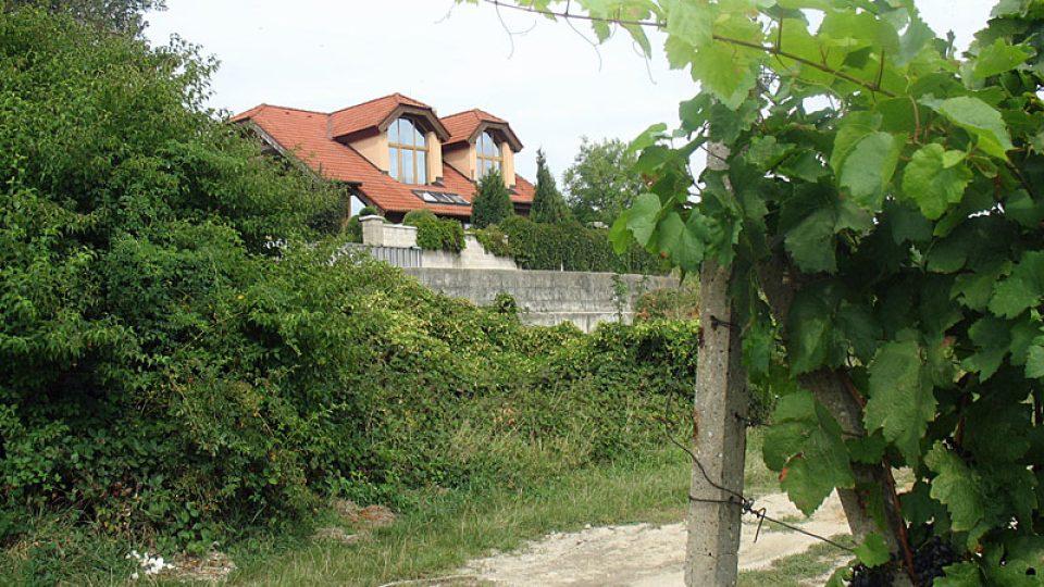 Domy se k vinici Mira Fekete přibližují