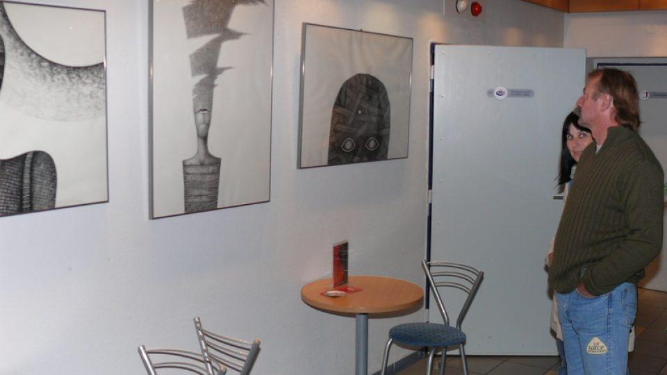 Vernisáž říjnové výstava výtvarníka Františka Tomíka
