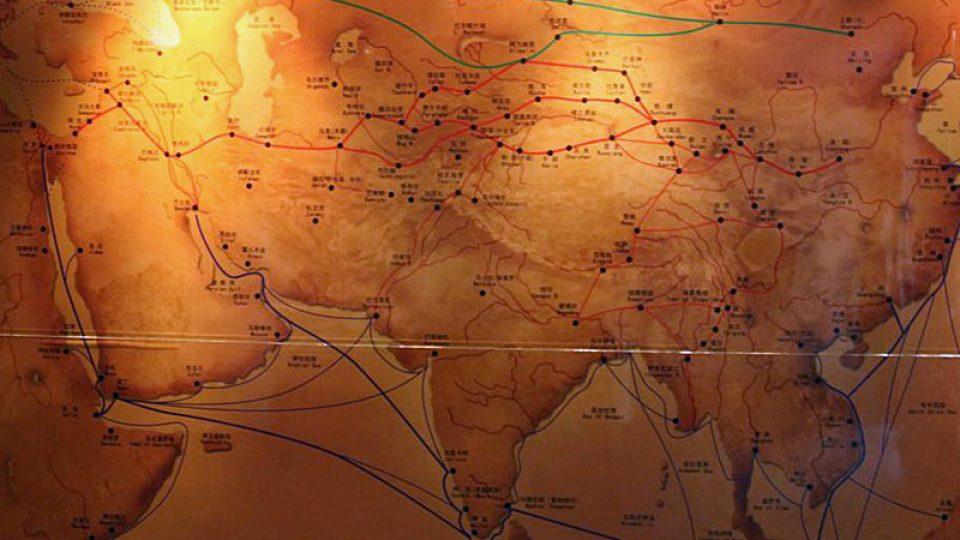 Mapa Hedvárné stezky