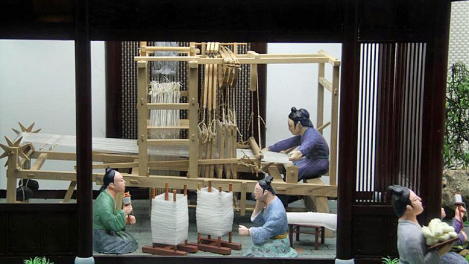Dávná výroba hedvábí