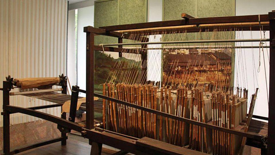Stav k výrobě hedvábného sukna