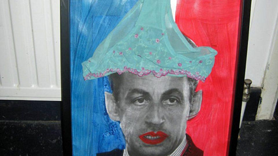 Nicolas Sarkozy v koláži Jana Bucquoye