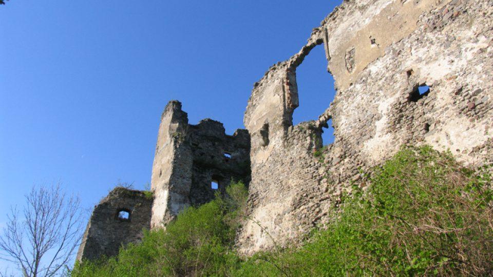 Východní strana hradu