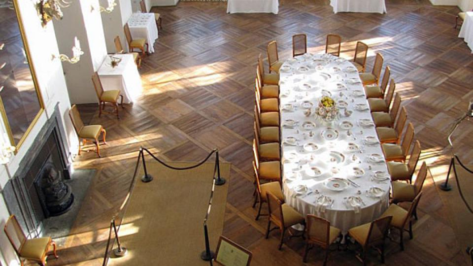 Sál na zámku Moritzburg