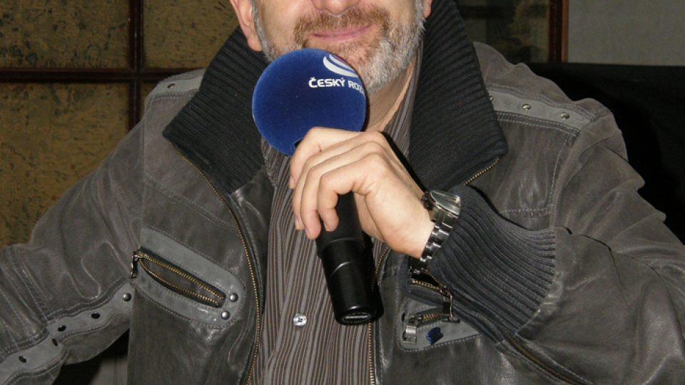 Jiří Kolbaba během vysílání