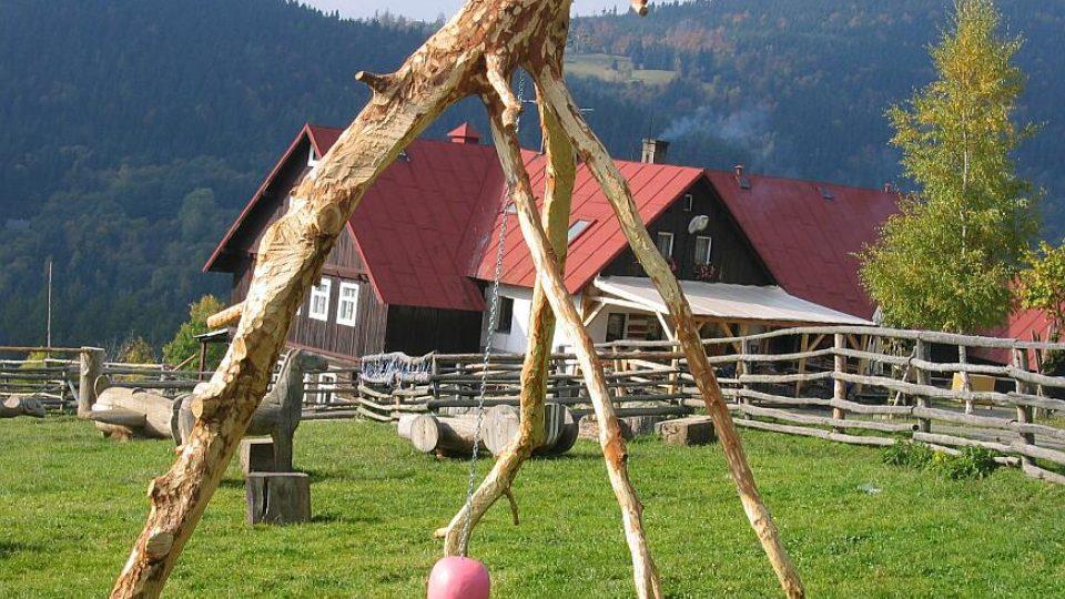 Horská Farma Hucul na svahu Janovy hory v obci Vítkovice