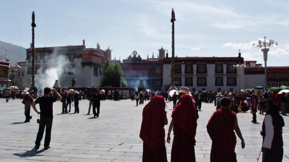 Náměstí v Tibetu