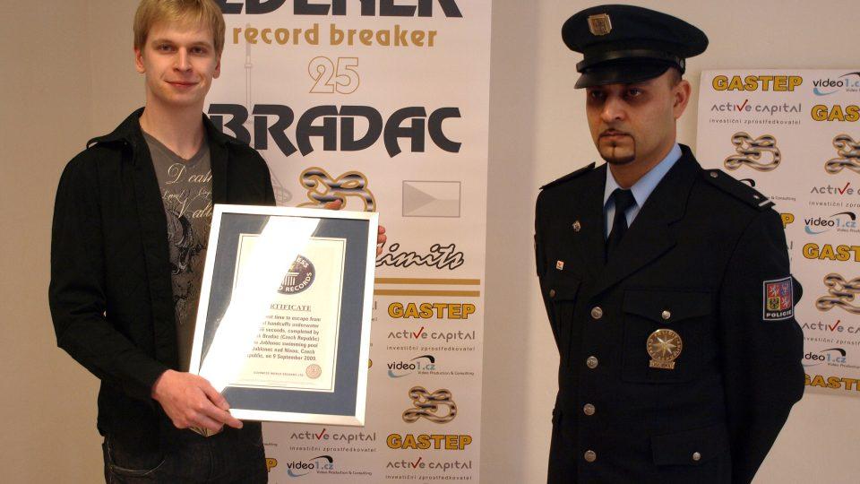 Zdeněk Bradáč při světovém rekordu