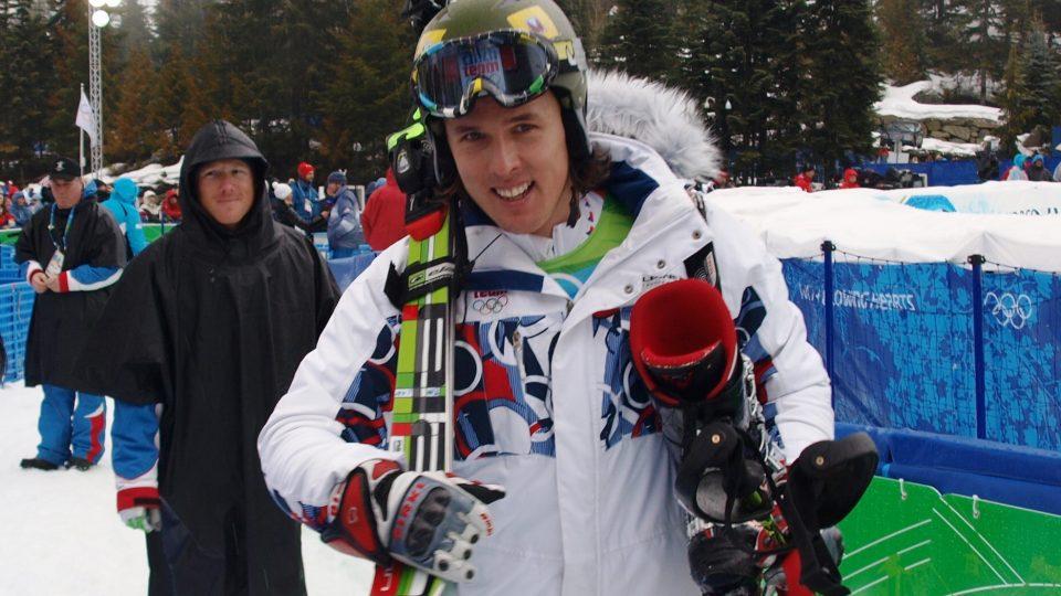 Po prvním kole slalomu zářil Ondřej Bank spokojeností