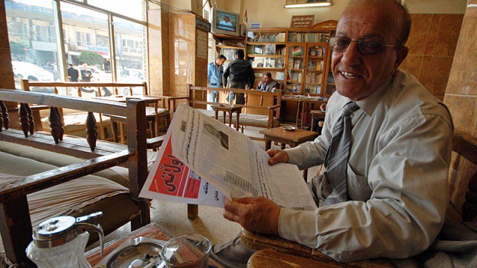 V čajovně pod citadelou v Erbílu