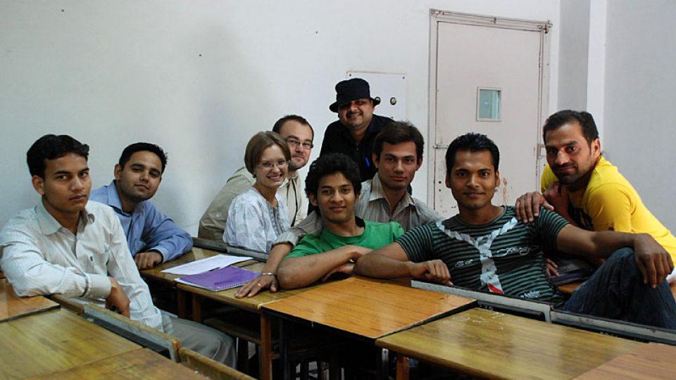 Indičtí studenti češtiny