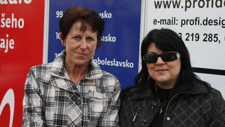 Jarmila Kratochvílová s Janou Chládkovou