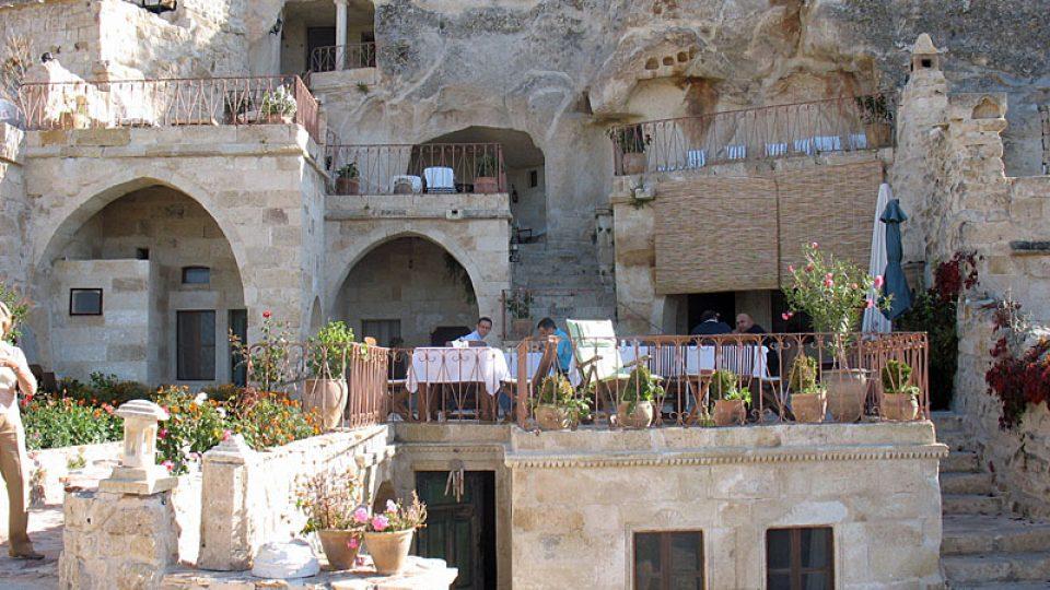 Jeskynní hotel v Göreme