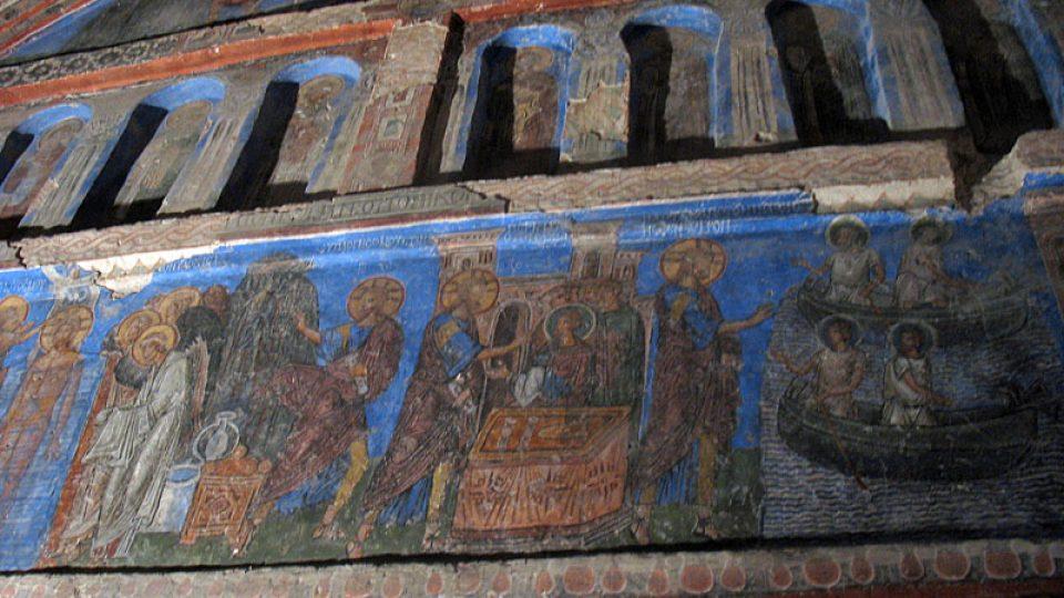 Fresky v byzantském kostele
