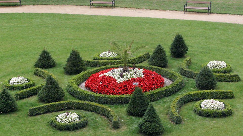 Park zámku Kunín