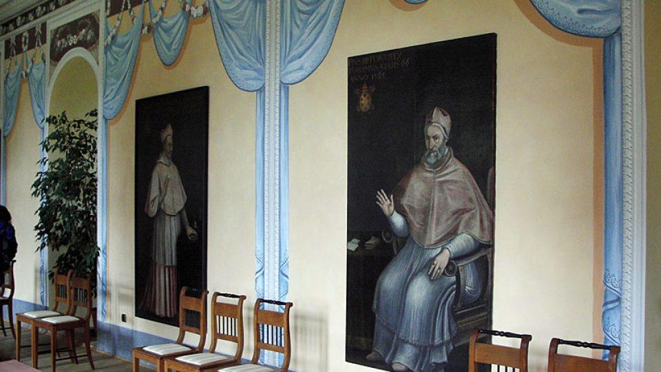 Obrazy na zámku Kunín