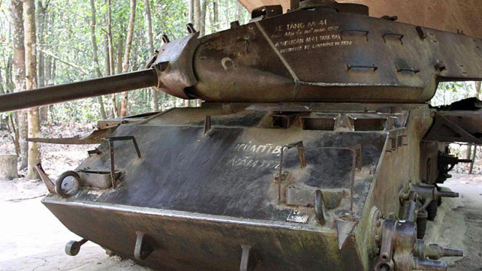 Zničený americký tank