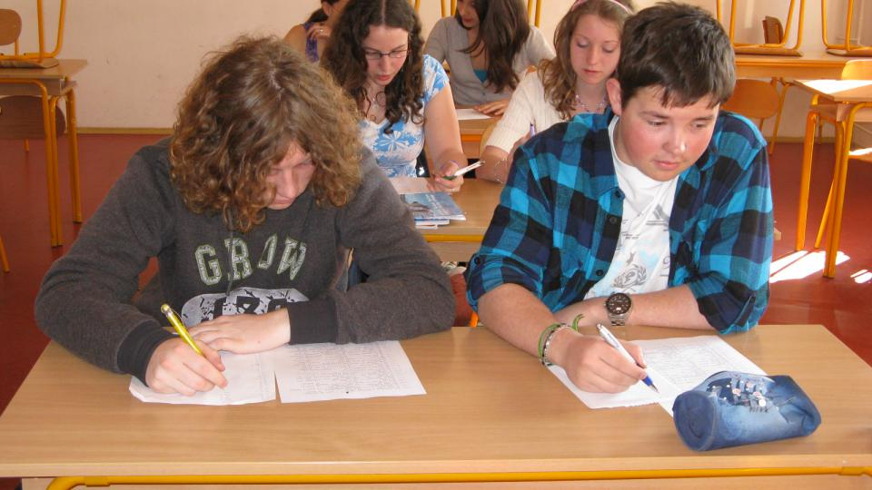 Žáci berounského gymnázia