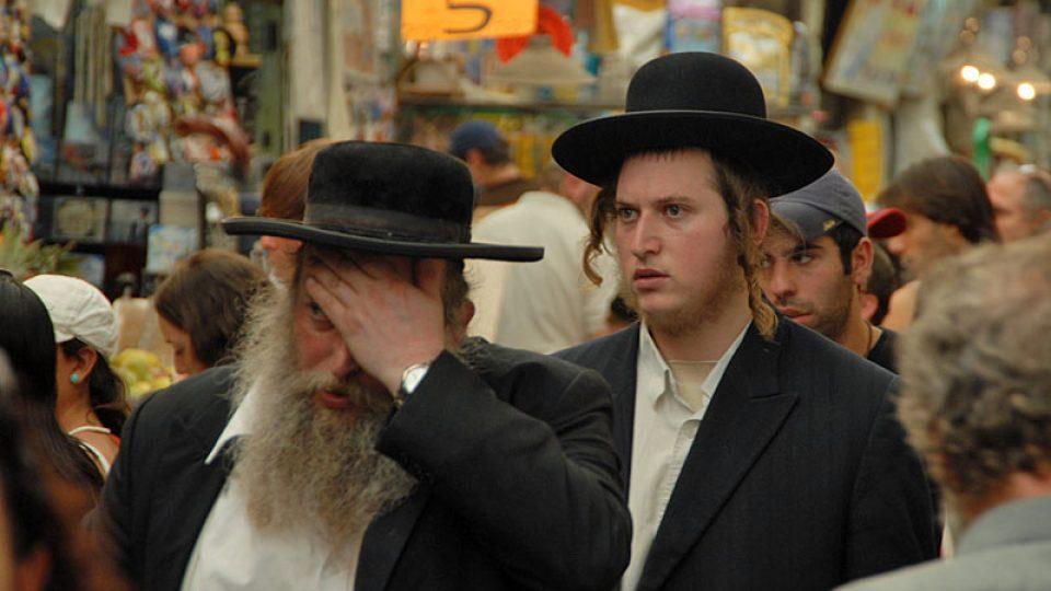 Páteční spěch na židovském trhu