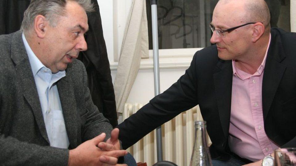 Karel Poláček a starosta Prahy 1 Filip Dvořák