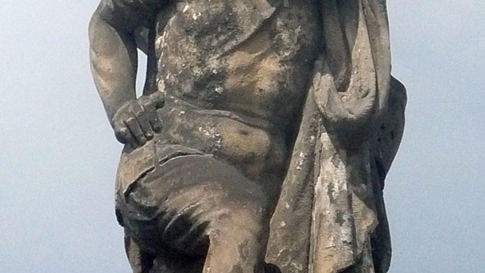 Detail kašny v Josefově