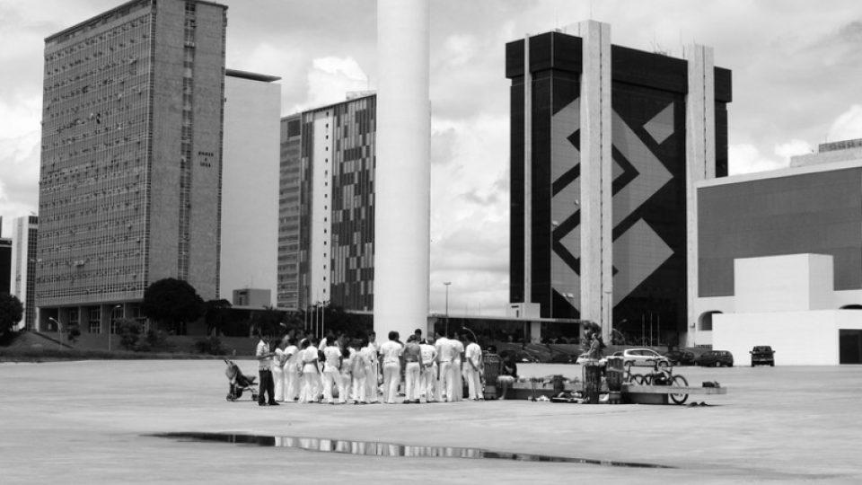 Tanečnící capoeiry v Brasílii