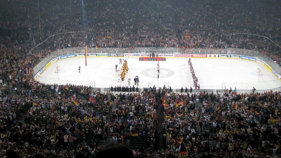Zahajovací hokejové utkání USA-Německo