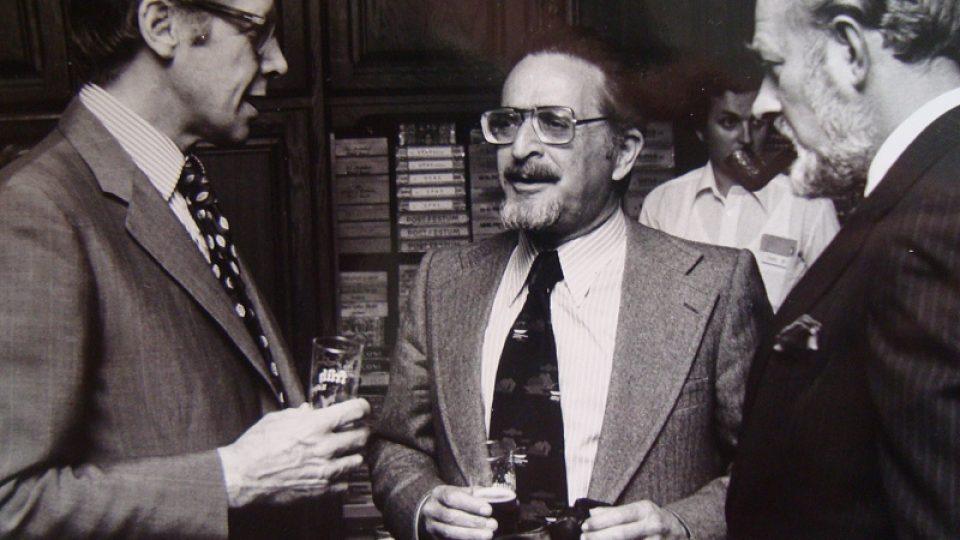 Bedřich Utitz (uprostřed) v 60. letech