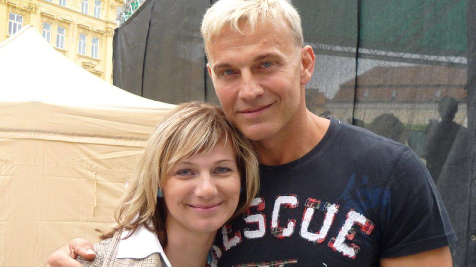 Petra Polzerová a Martinem Maxou