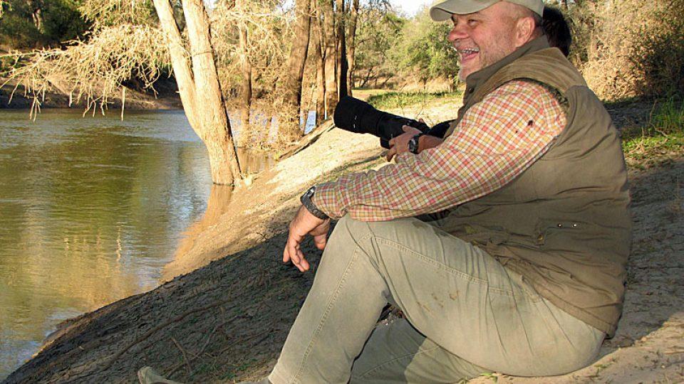 Ivan Višňák u řeky Limpopo