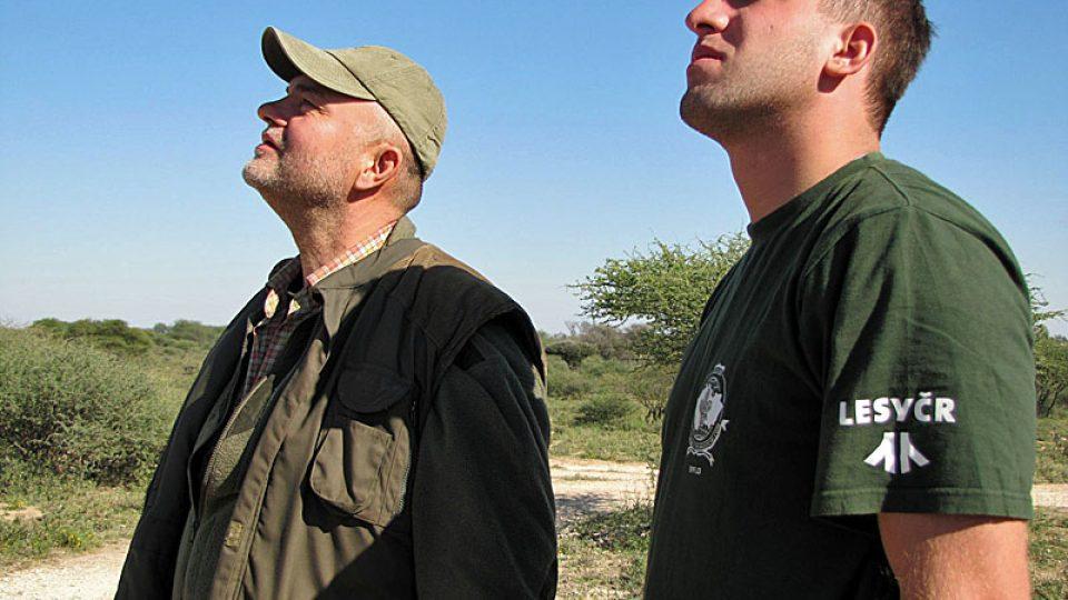Ivan Višňák (vlevo) sleduje supy