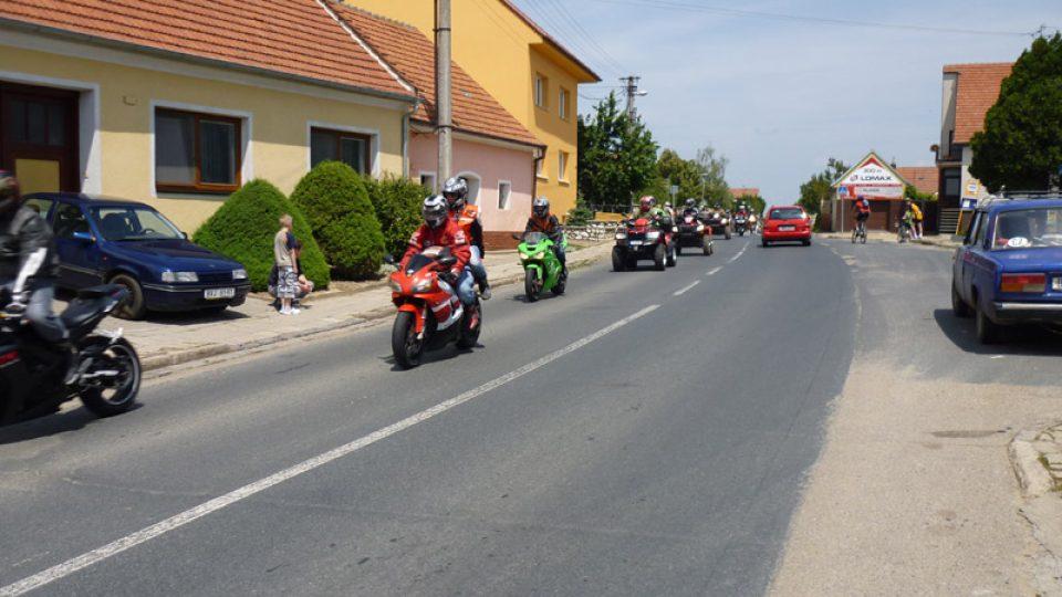 V Bořeticích měli sraz motorkáři
