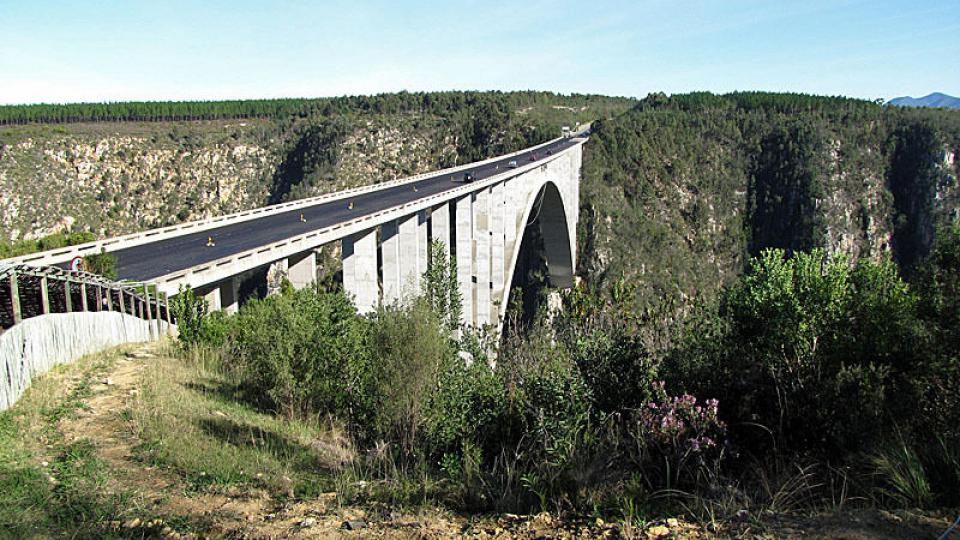 Bloukrans Bridge nedaleko Port Elizabeth