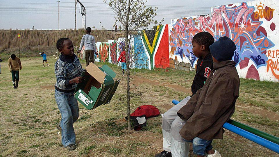Dětsské hřiště v Sowetu